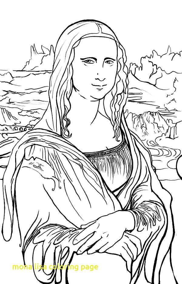 600x933 Mona Lisa Coloring Page With Mona Lisa Coloring Page
