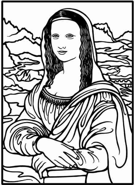439x600 Amazing Mona Lisa Coloring Page In Download Pages