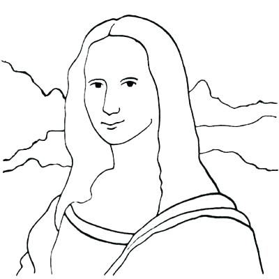 400x400 Best Of Mona Lisa Coloring Page And Marvelous About Download Pages