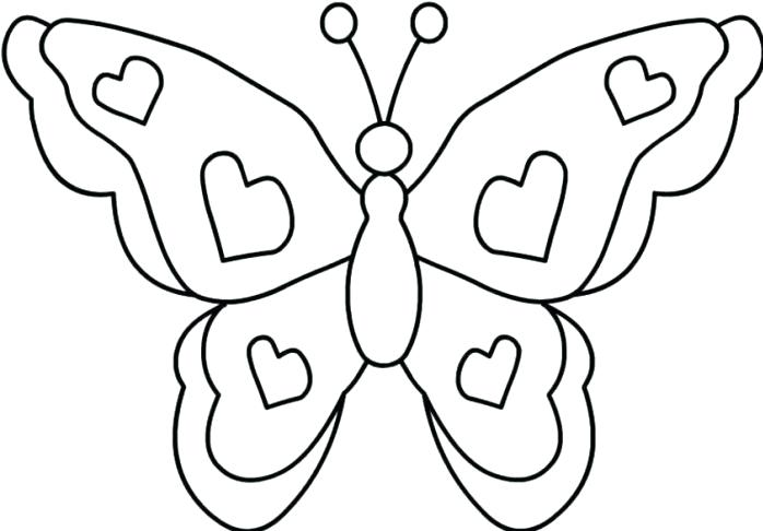 698x486 Butterfly Coloring Pictures Butterfly Coloring Page Monarch