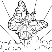 200x200 Free Monarch Butterfly And Caterpillars Coloring Images!