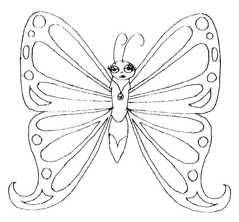 800x742 Monarch Butterfly Coloring Page Art Printouts