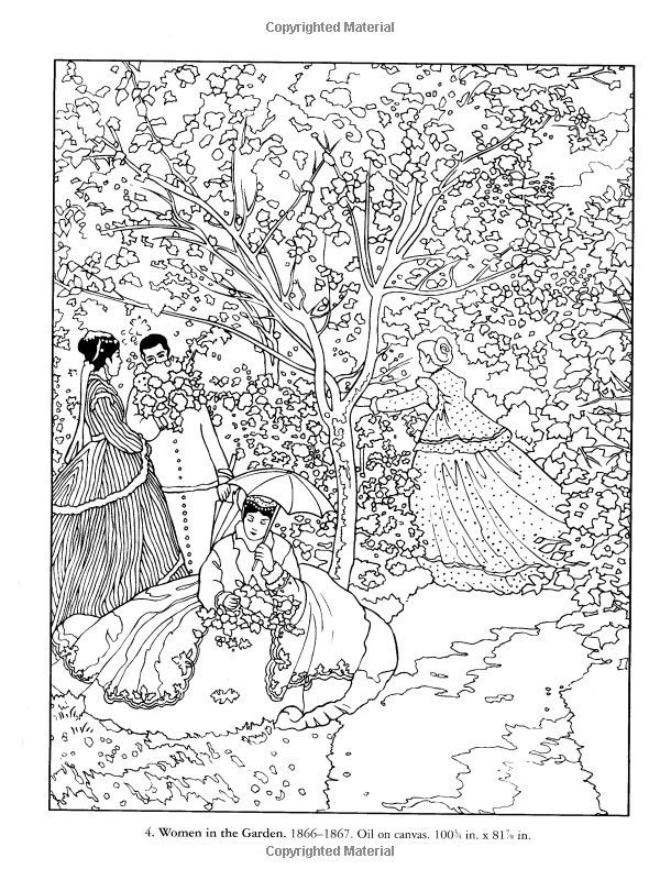 Monet Coloring Pages