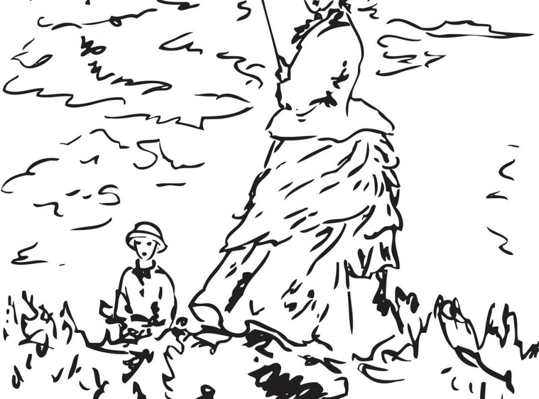 1080x800 Images Of Claude Monet Coloring Pages Inside Creativemove Free