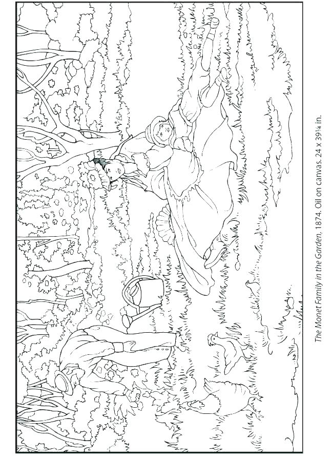 650x888 Monet Coloring Book And Coloring Pages Best Images About Coloring