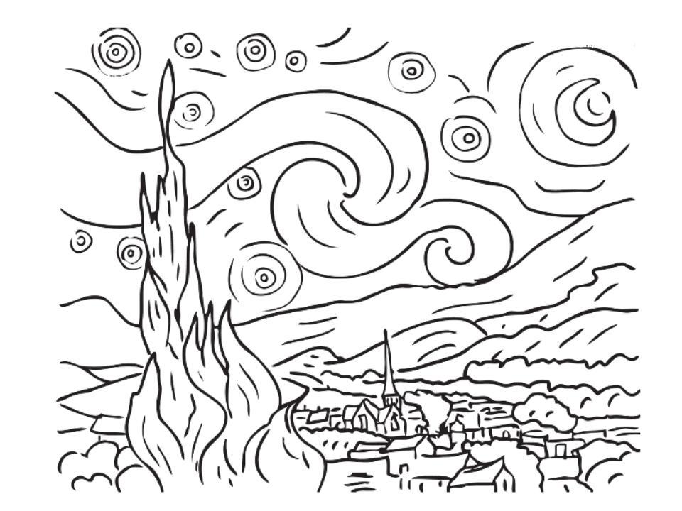 960x720 Monet Coloring Pages