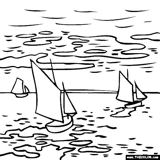 560x560 Best Monet Coloring Pages Images On Coloring Pages