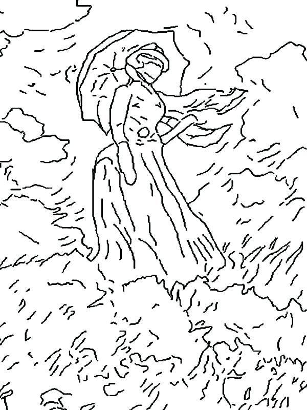 600x800 Monet Coloring Pages Famous Paintings Lady In The Meadow Famous