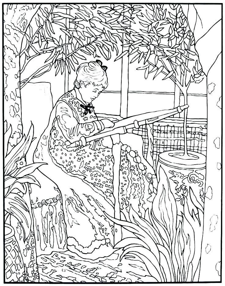 736x933 Claude Monet Coloring Pages Coloring Pages Images Images Tableau