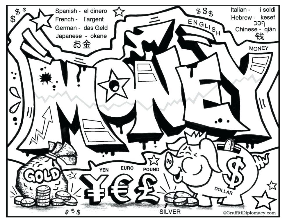 Money Coloring Pages At Getdrawings Com Free For Personal Use