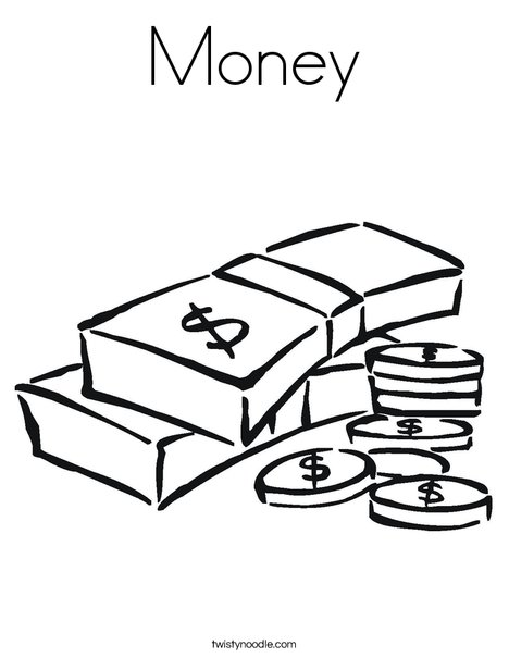 468x605 Money Coloring Page