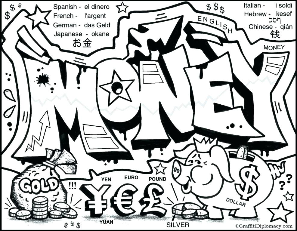 987x768 Money Coloring Pages Money Coloring Pages Eprowebdesigns