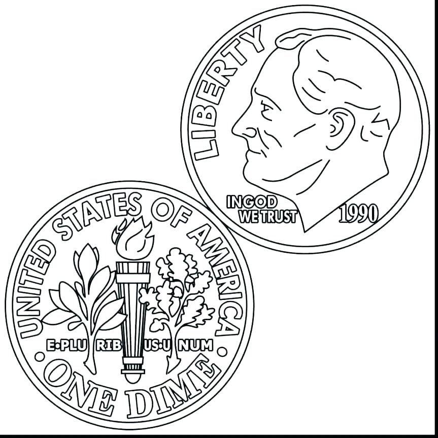 863x863 Canadian Coin Coloring Pages Money Coloring Page Money Coloring