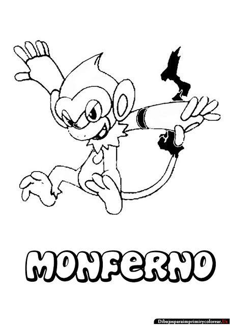 452x640 Dibujos De Pokemon Para Imprimir Y Colorear Monferno