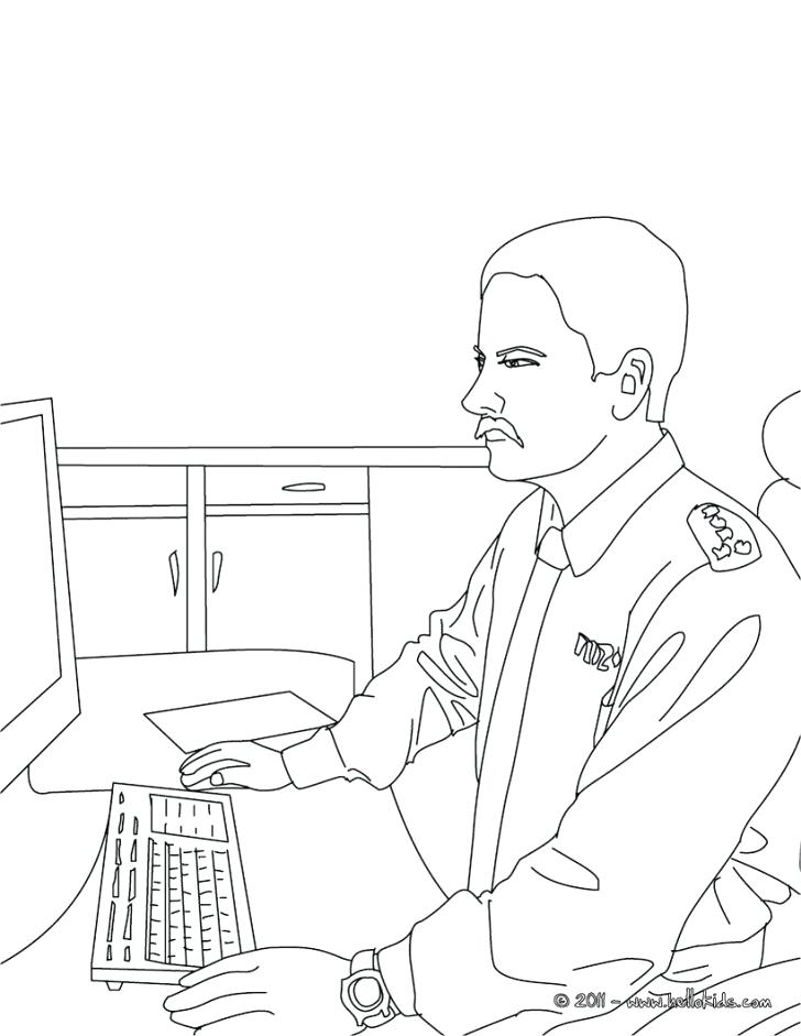 728x941 Police Officer Coloring Pages Police Officer Coloring Pages