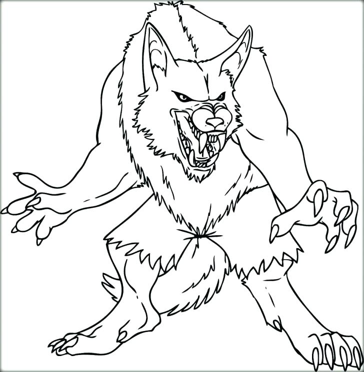 728x745 Werewolf Coloring Pages Werewolf Coloring Page X Werewolf Coloring