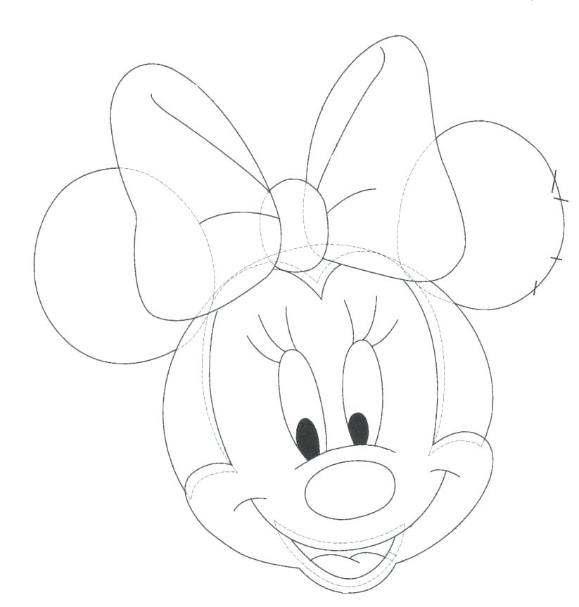 823x863 Coloring Pages Draw Minnie Mouse Drawing For Kids Kids Drawing