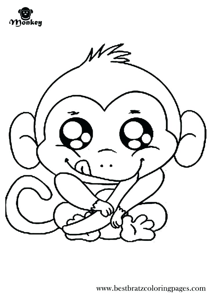 731x1024 Coloring Pages Of A Monkey Printable Monkey Coloring Pages Free