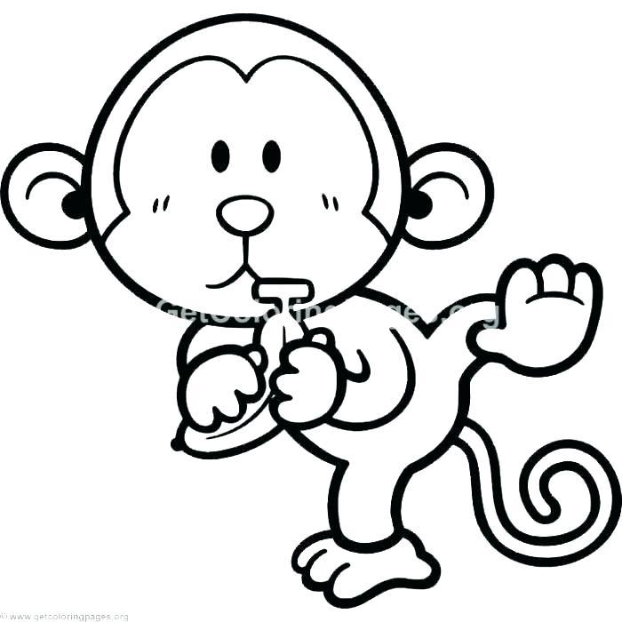700x700 Printable Monkeys