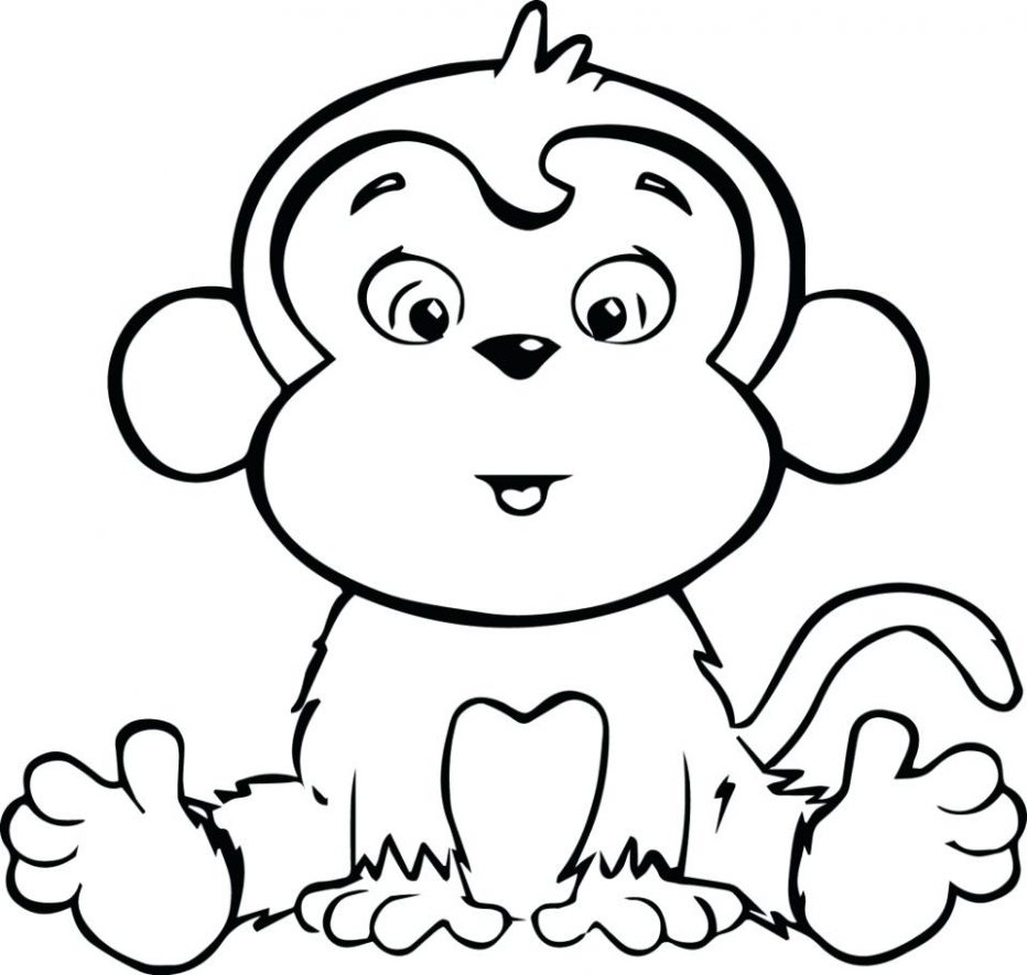 932x885 Amazing Coloring Pages Of A Monkey Baby Girl Free Sporturka