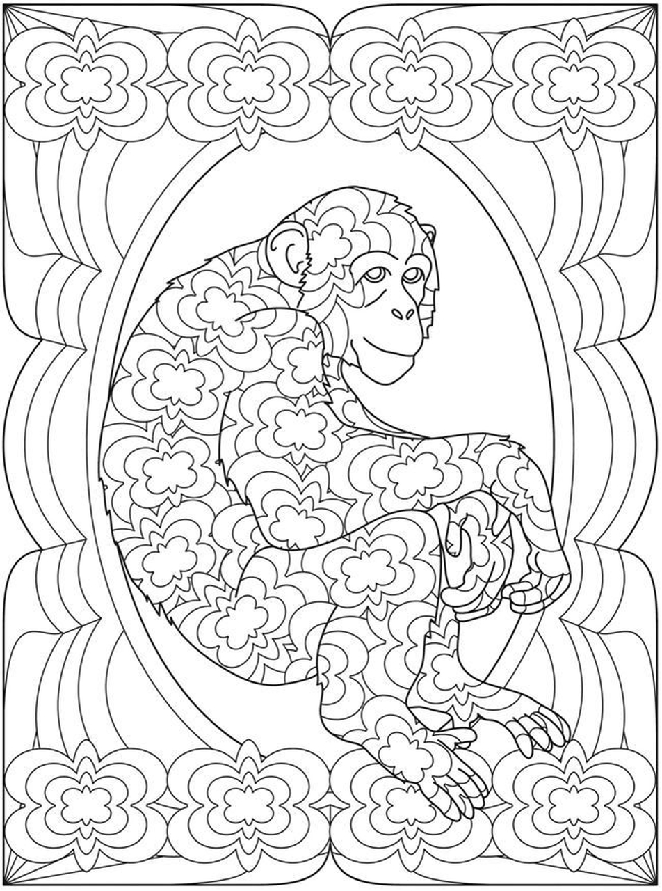 952x1280 Get This Monkey Coloring Pages For Adults