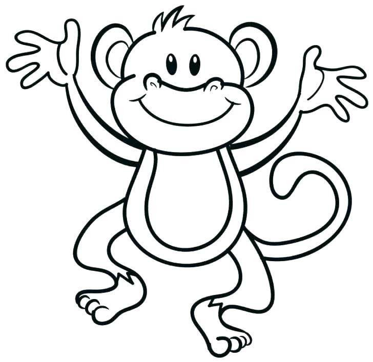 728x707 Monkey Coloring Pages Monkey Coloring Pages Cute Monkey Coloring