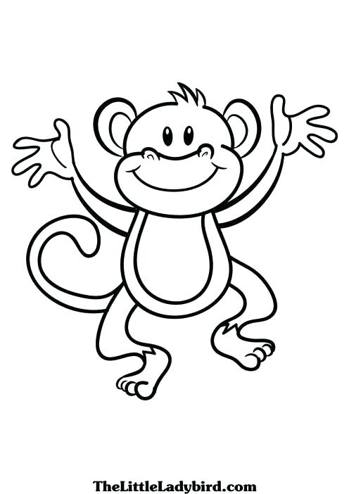 496x702 Monkey Coloring Pages Pdf Wonderful Monkey Coloring Pages New