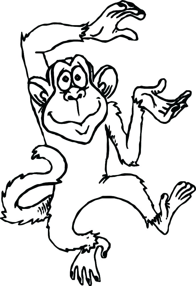 Monkey Coloring Pages For Adults at GetDrawings.com | Free ...
