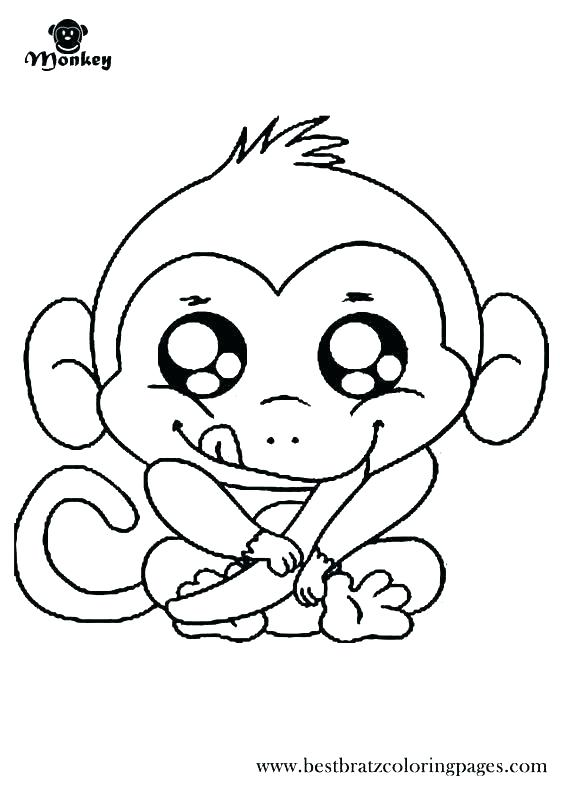 564x789 Coloring Pages Monkey