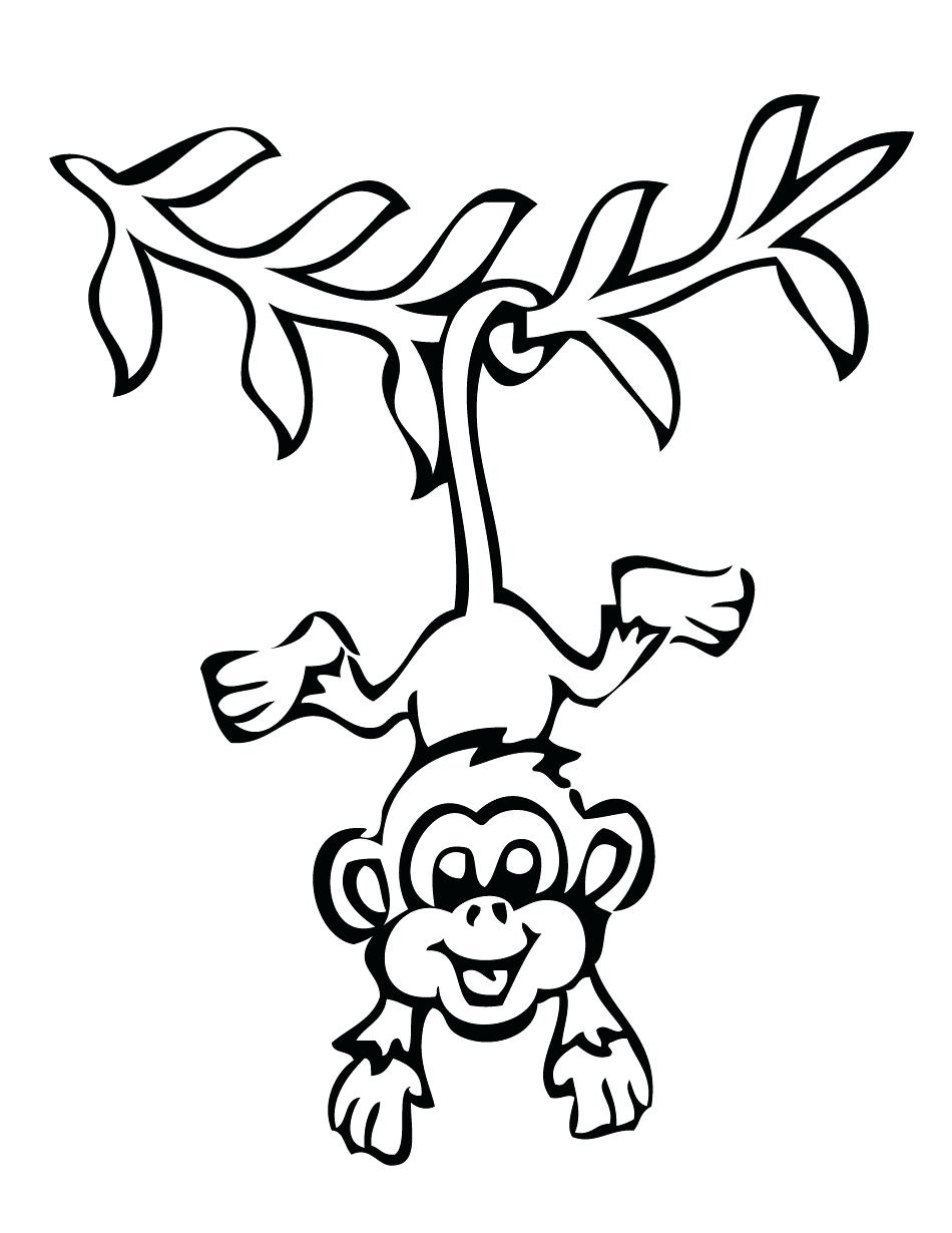 950x1230 Coloring Pages Monkey Coloring Pages Sock And Free Printable
