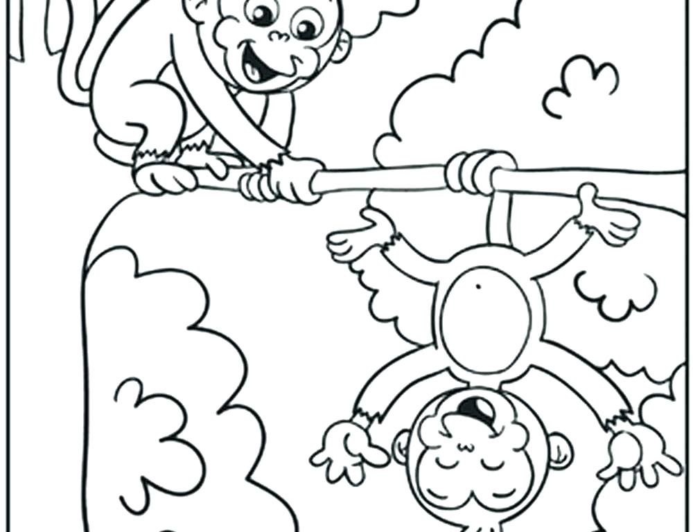 1000x768 Monkey Coloring Pages