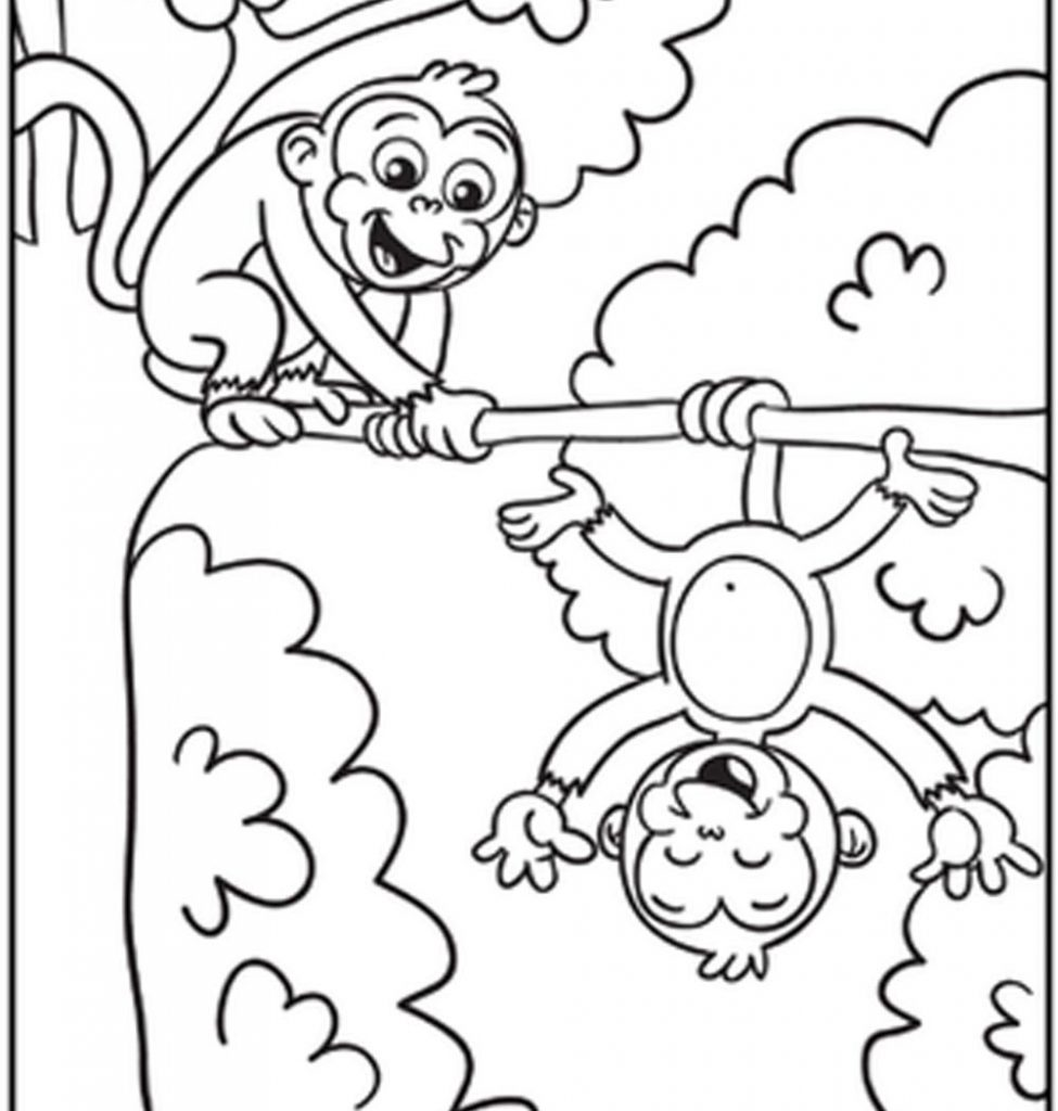 975x1024 Free Printable Cute Monkey Coloring Pages For Toddler Page