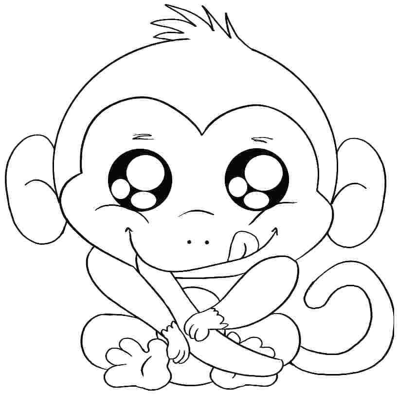 818x810 Free Printable Monkey Coloring Pages For Kids Coloring Free