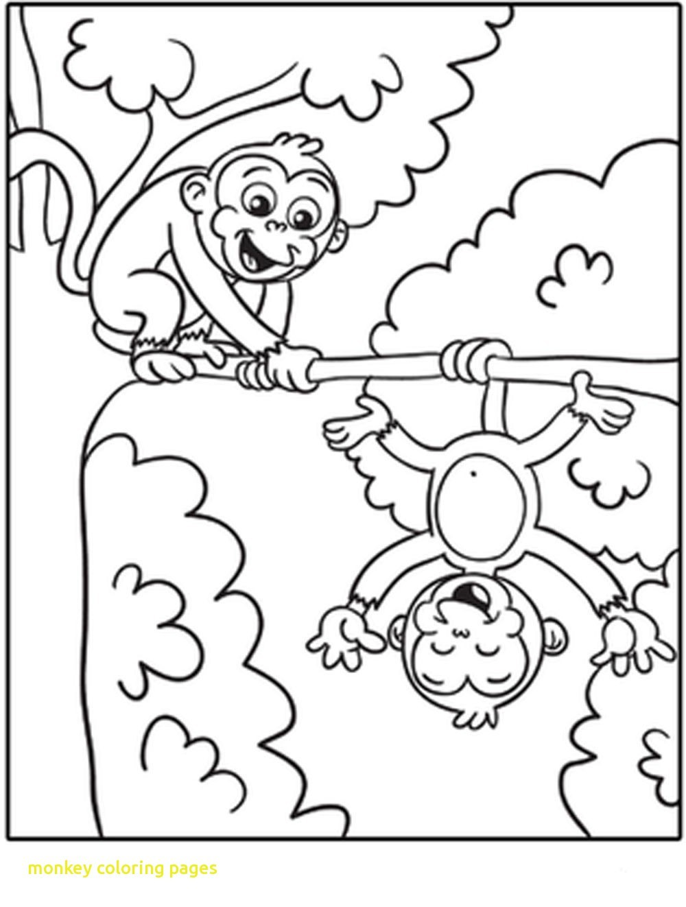1000x1322 Bargain Coloring Pages Of A Monkey Free Printable For Kids