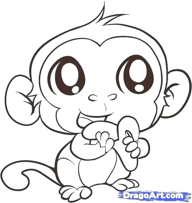 614x648 Printable Monkey Coloring Pages Coloring Pages For Kids Monkey