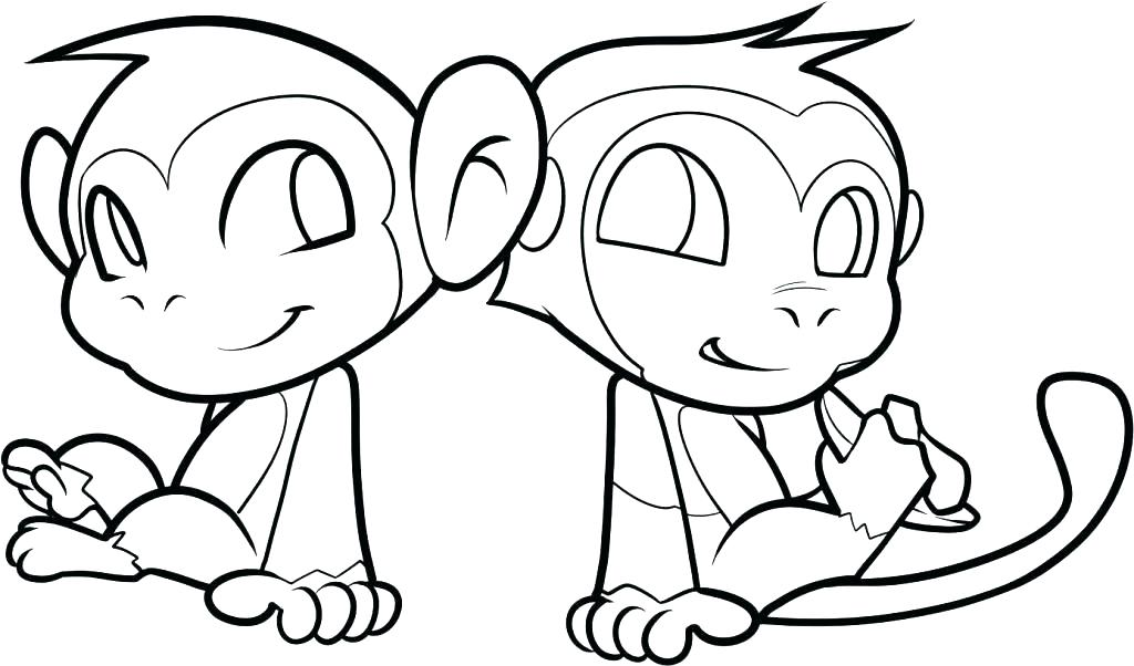 1024x602 Printable Monkey Coloring Pages Monkey Coloring Pages Printable