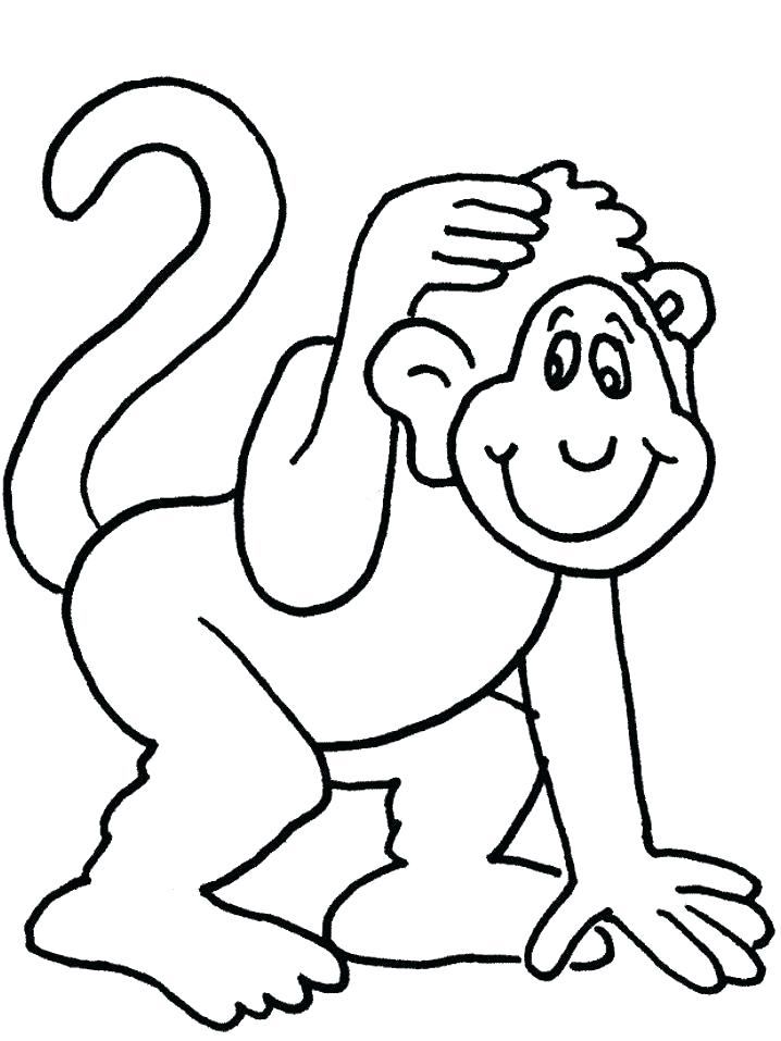 718x957 Monkey Coloring Pages To Print