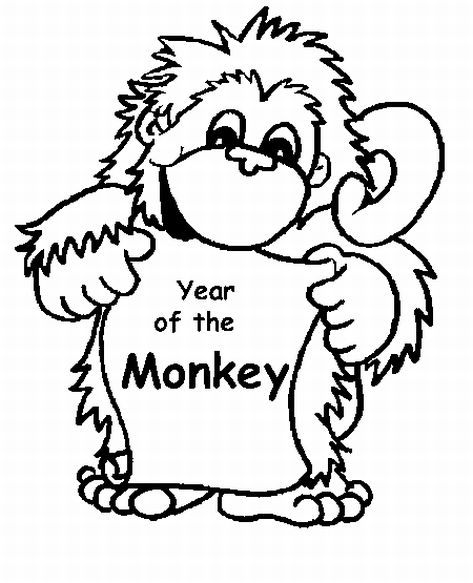 473x583 Coloring Pages Year Of The Monkey
