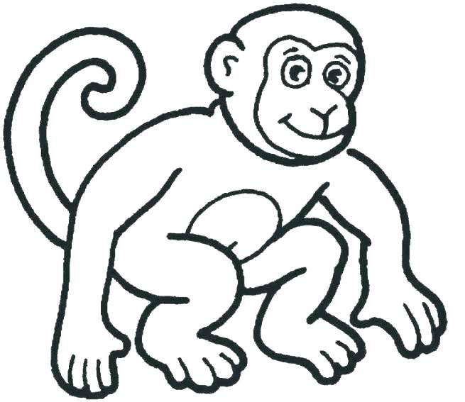 655x567 Coloring Pages Of Monkeys Monkeys Coloring Pages Monkey Coloring