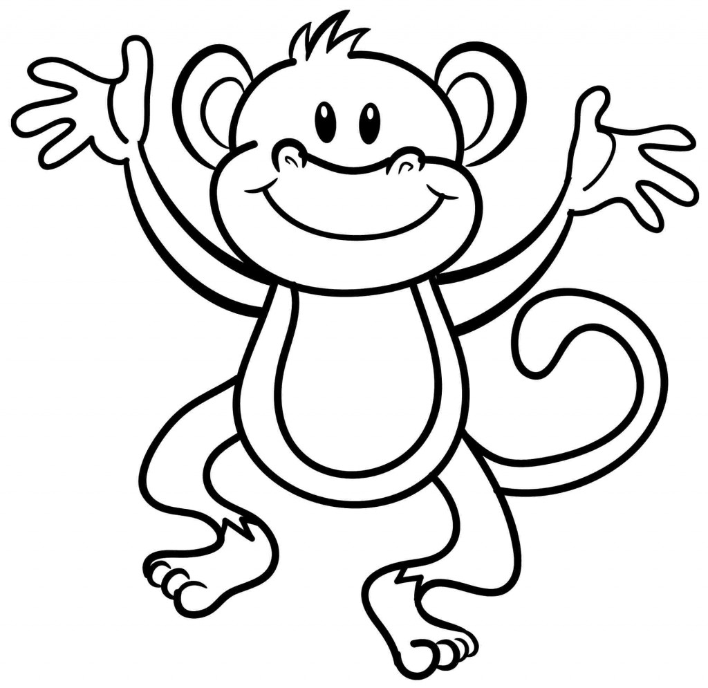 1024x995 Free Printable Monkey Coloring Pages