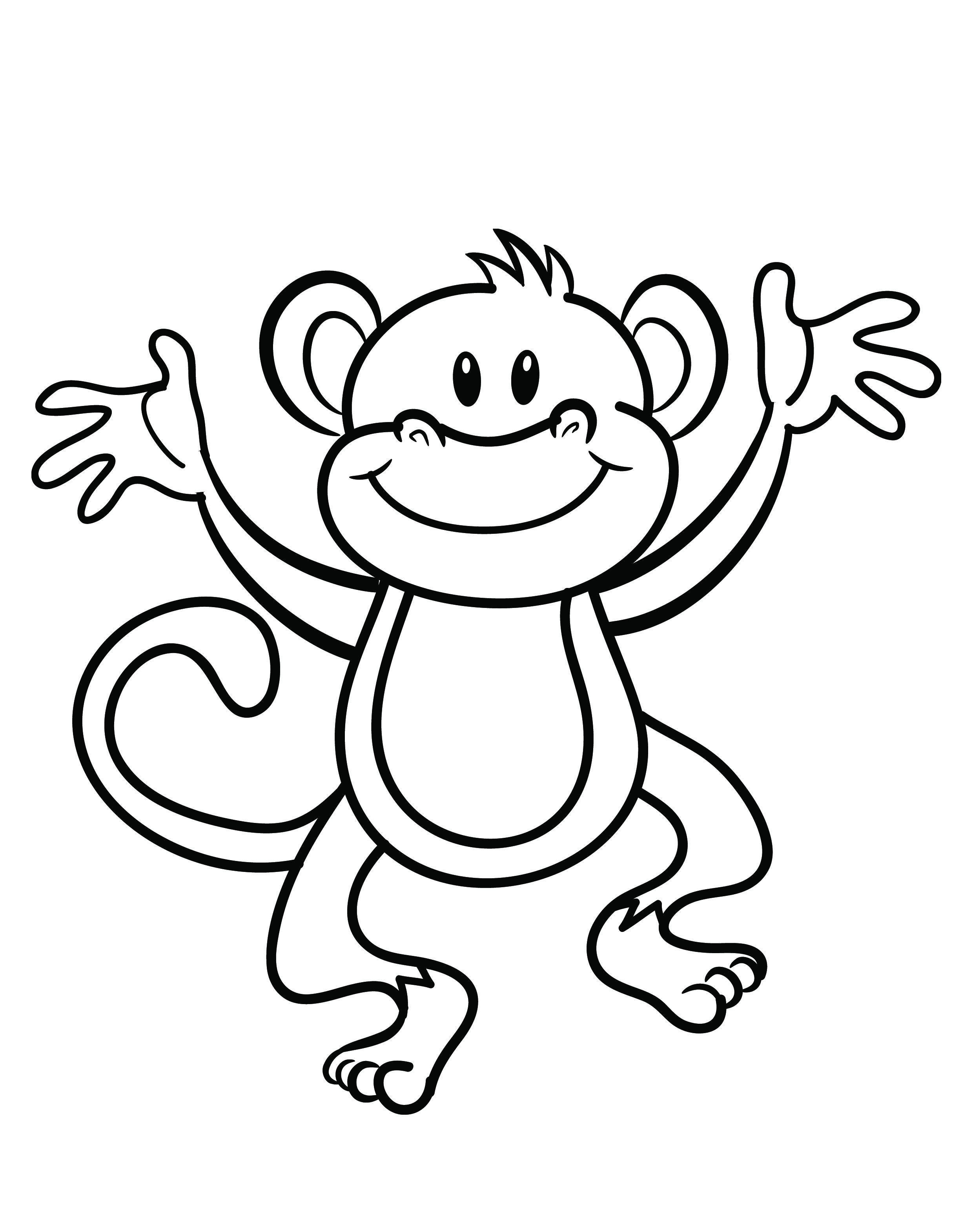 2480x3141 Free Printable Monkey Coloring Page Cj Birthday