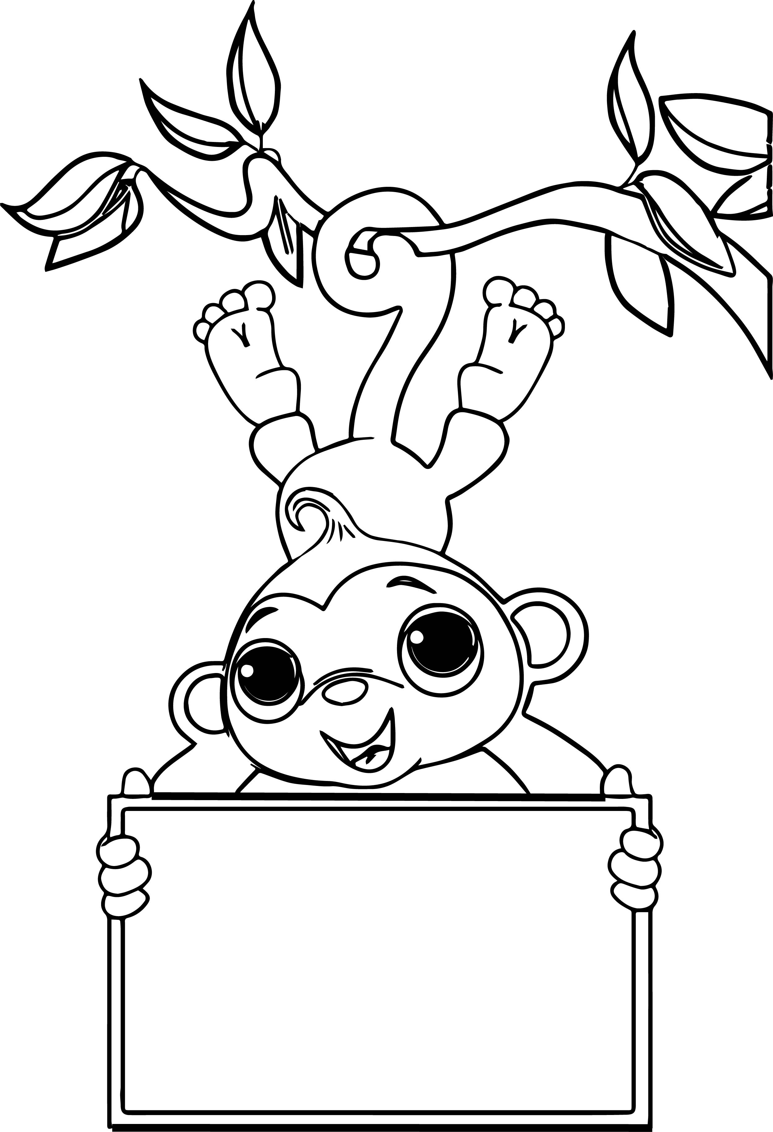 2500x3660 Coloring Pages Baby Monkey Best Zoo Free Sock Monkey Download
