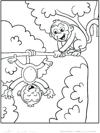 332x440 Coloring Pages Of A Monkey Coloring Pages Monkeys Monkey Coloring