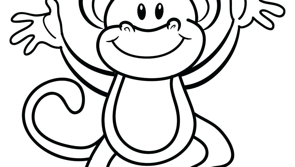 960x544 Coloring Pages Of Baby Monkeys Monkey Coloring Pages Printable