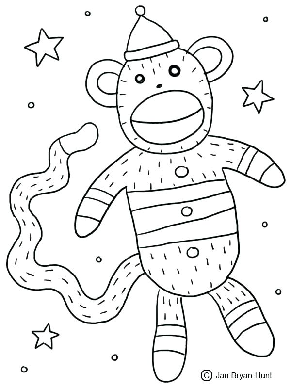 600x800 Monkey Color Pages Inspirational Monkeys Coloring Pages Print Sock