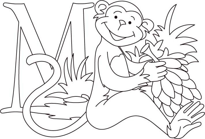 710x480 Monkey Coloring Pages