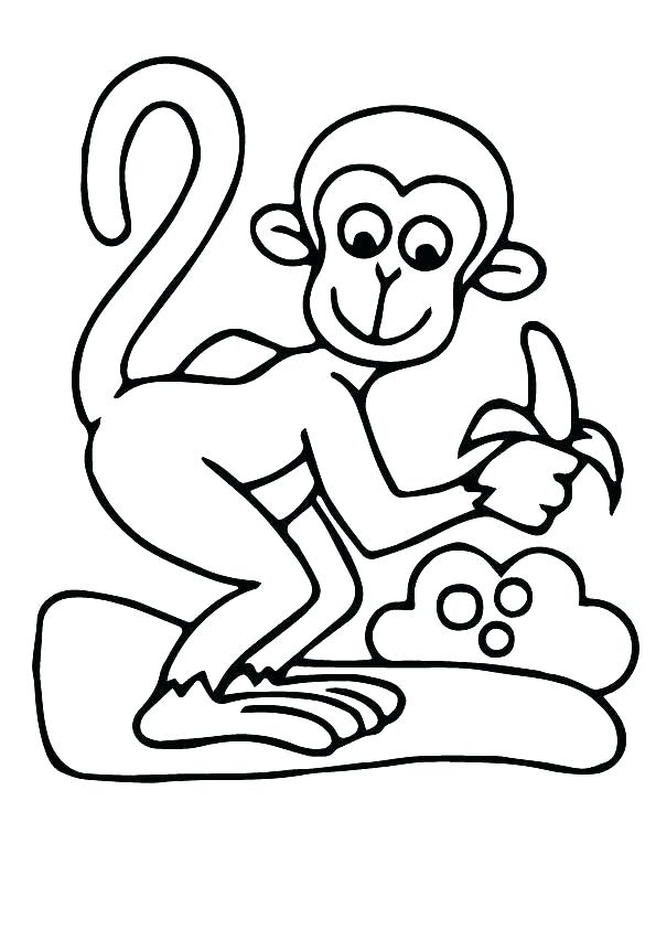 595x842 Monkey Pictures To Color Together With X Cute Monkey Coloring