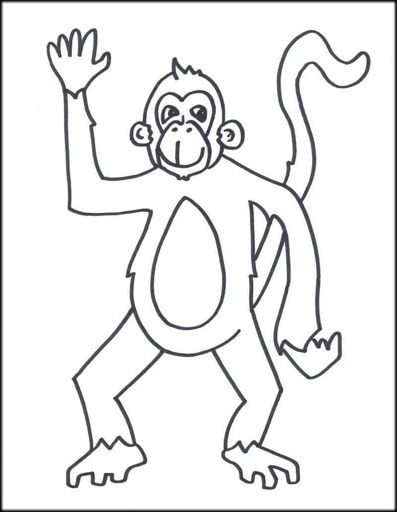 800x1032 Printable Monkey Coloring Pages For Kids New Coloring Sheets