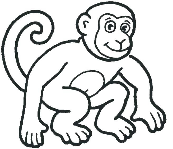 655x567 Free Monkey Coloring Pages Monkey Face Coloring Page Face Coloring