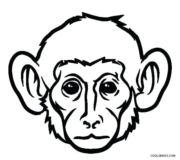 600x534 Free Printable Monkey Coloring Pages For Kids Monkey
